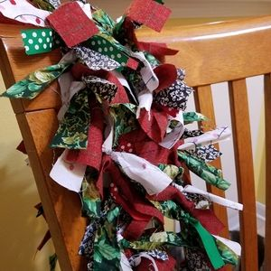 Holiday Rag Garland, 6' - Christmas Cheer!